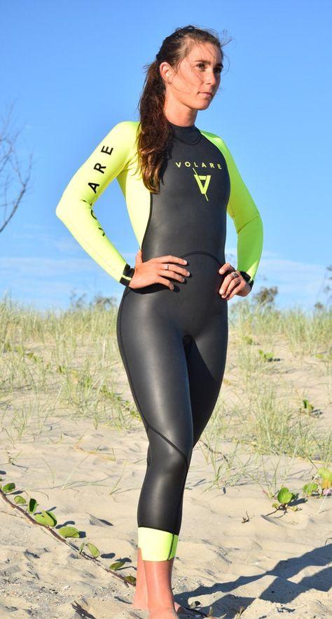 Speedo Womens Triathlon Comp Thinswim Sleeveless Wetsuit Black Sports Swimming