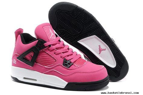 1c760e324af4 Buy Girls Jordan 4 Retro GS Voltage Cherry White Black 487724 601 ...