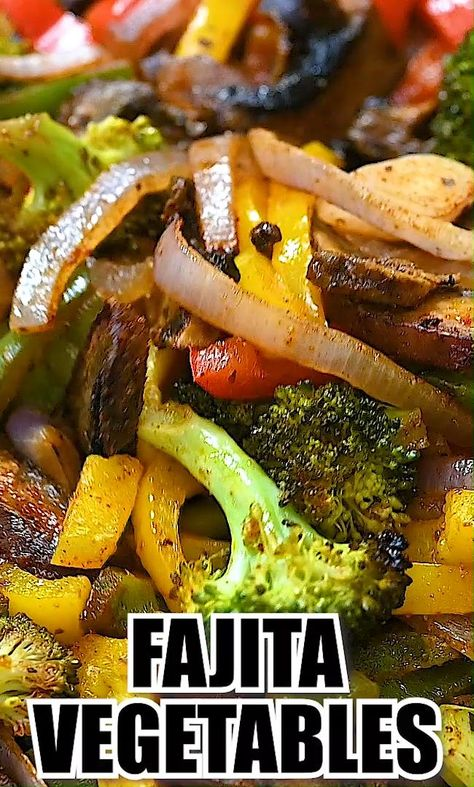 These Easy Fajita Vegetables are so simple to make and taste delicious. Roasted with a mix of flavorful spices, these vegetables are spicy, sweet, and perfectly tasty. FOLLOW Cooktoria for more deliciousness! If you try my recipes - share photos with me, I ALWAYS check! #vegan #plantbased #veegtarian #thanksgiving
