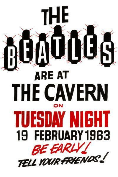 Bildresultat för The Beatles at The Cavern Club on February 19th, 1963