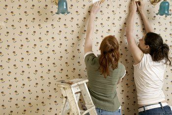 How To Repair Drywall Damage Caused By Wallpaper Removal Remove Wallpaper Glue Removing Old Wallpaper Removable Wallpaper
