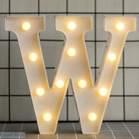 Luminous Led Letter Or Number Night Light Home Decoration