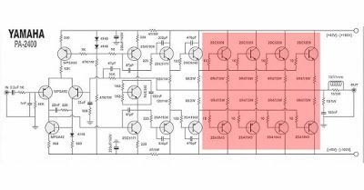 yamaha power amplifier pa 2400 schematic \u0026 pcb circuits in 5 Channel Amplifier Wiring Diagram