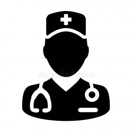 Nurse Icon Vector Male Person Profile Avatar With A Stethoscope For Medical Cons Sponsored Male Person Vector Nurse Ad Nurse Nurse Symbol Icon