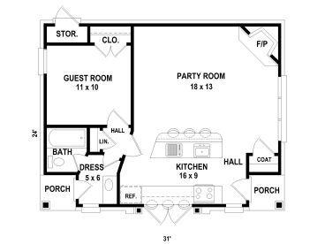Floor Plan 006p 0015 Pool House Plans Micro House Plans Garage Apartment Plans