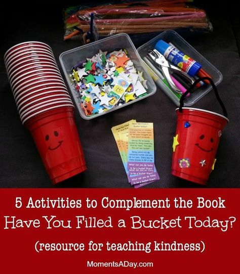 Activities to Learn about Kindness (Bucket Filler Resources 5 Activities to Complement the Book Have You Filled a Bucket Today from Moments a Activities to Complement the Book Have You Filled a Bucket Today from Moments a Day Teaching Kindness, Kindness Activities, Activities For Kids, Kindergarten Activities, Kindergarten Classroom, Classroom Activities, Teaching Art, Preschool Friendship Activities, Respect Activities