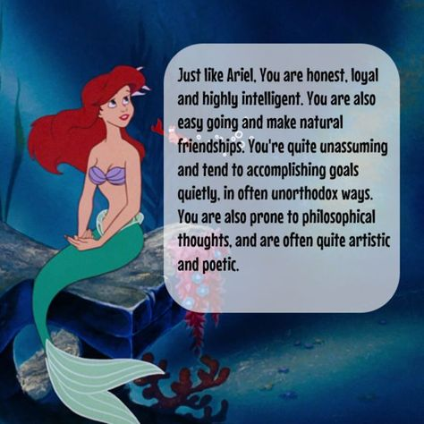 I got Ariel!  Which Disney Princess Are You Based On Your Zodiac Sign?