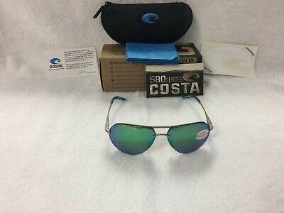 New Costa del Mar Helo 580P Green Mirror Polarized Sunglasses