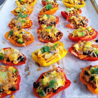 skinny nachos recipe stuffed peppers mexican food recipes nachos pinterest
