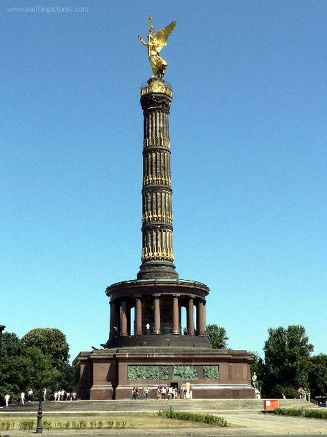 Berlin Siegessäule is also known as the Victory Column.  It commemorates the Prussian victory in the Danish-Prussian War.