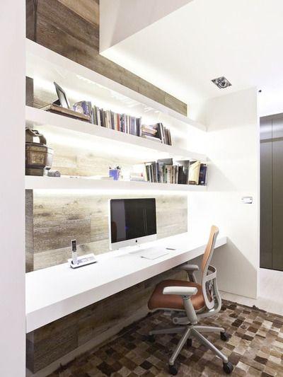 #interior #design #decorating #decor  La simplicité c'est toujours gagnant !   L'ajout de tuiles de porcelaine immitation pierre rehausse le décor .