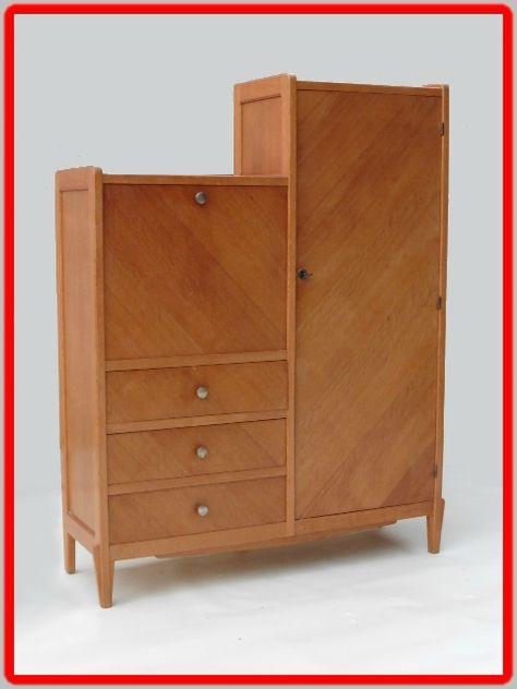 Armoire Secretaire Vintage Annees 50 Vendu Meubles Deco Vintage