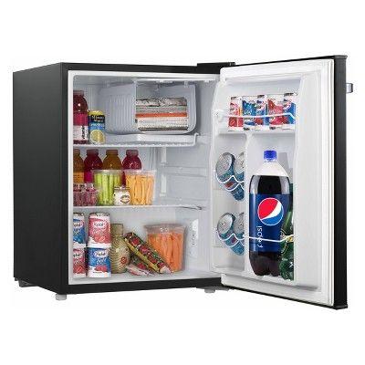 Galanz 2 7 Cu Ft Retro Refrigerator Black Dorm Refrigerator Mini Fridge Compact Refrigerator