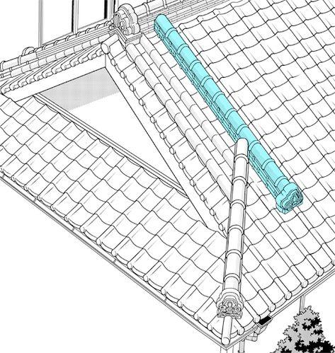 超級 背景講座 Maedaxの背景萌え 瓦屋根屋編 瓦屋根 和風の