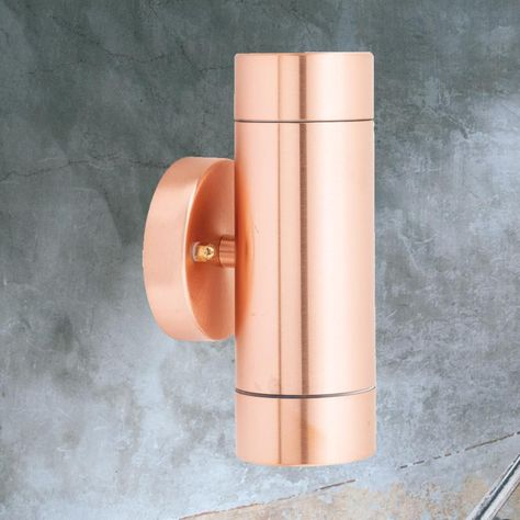 Outdoor Copper Up Down Wall Light Cl 39175 In 2020 Wall Lights Up Down Wall Light Wall Light Fittings