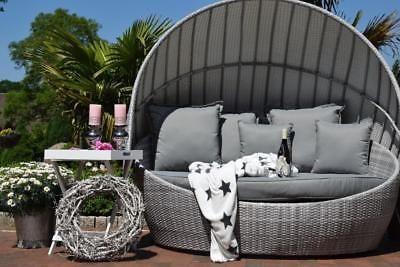 Exclusive Poly Rattan Sonneninsel Rattan Rattan Dach Grau Gartenmobel Design Gartenliege Design Aussenmobel