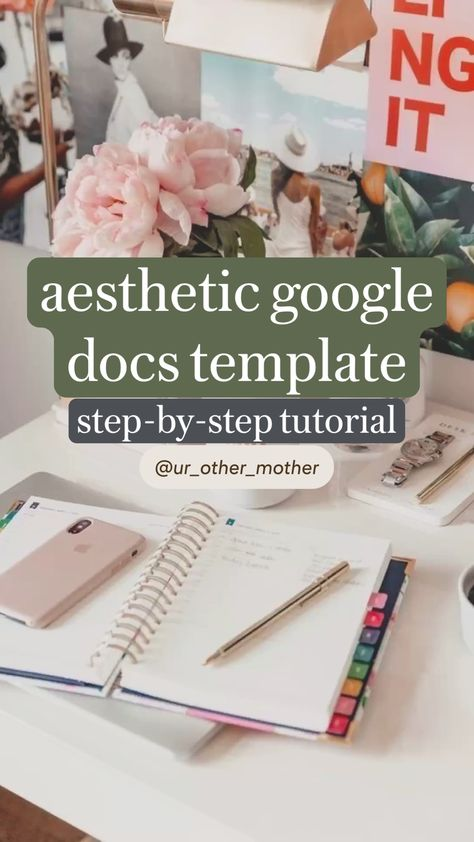 aesthetic google docs template