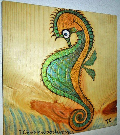 Seahorse Painting Wall Art Seahorse Painting Canvas Sea