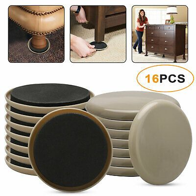 Advertisement 3 5 Round Carpet Furniture Sliders 16 Pack For Carpeted And Hard Floor Surface Furniture Sliders Round Carpets Furniture Pads