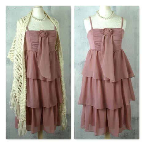 S M Elfen Chiffon Kleid Vintage Brocante Shabby Nostalgie Volants Second Hand Upcycling Mode In 2020 Kleider Modestil