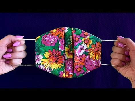 Small Sewing Projects, Sewing Projects For Beginners, Sewing Hacks, Sewing Tutorials, Easy Face Masks, Diy Face Mask, Fabric Crafts, Sewing Crafts, Diy Mask