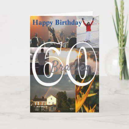 Personalised Photo Upload 60th Birthday Card Zazzle Com 60th Birthday Cards 40th Birthday Cards 80th Birthday Cards