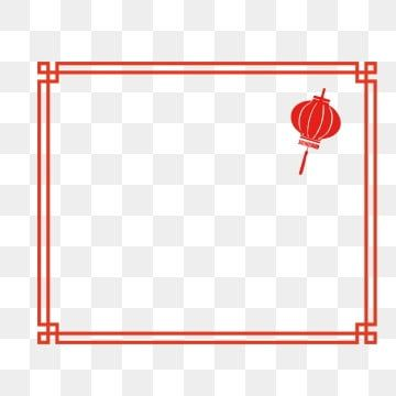 Red Chinese Style Frame New Year Border Border Design Clipart Border Design Chinese New Year Border Png And Vector With Transparent Background For Free Downl In 2021 Chinese New Year Background