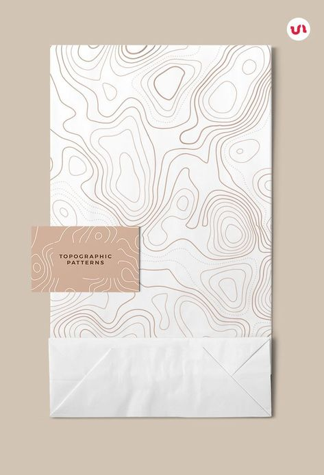 The Topographic Maps is a set of 10 Seamless Vector Patterns with linear contour maps ideal as a background for any project! Design, Branding, illustrator, ideas