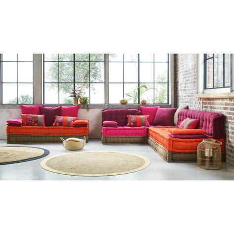 Banquette 2/3 places en coton multicolore Bolchoï | Sofa ...