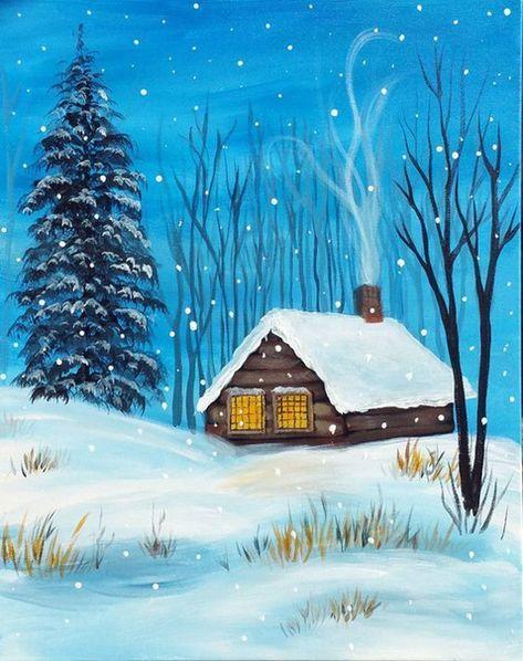 картинки зимние пейзажи рисовать задавая вопрос, подумай