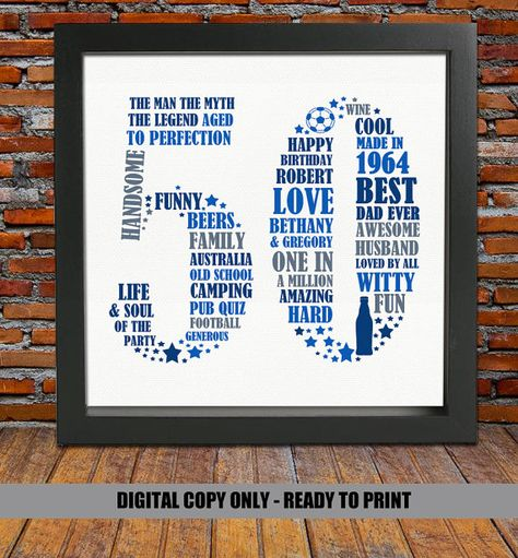 Personalized Birthday Gift 50th