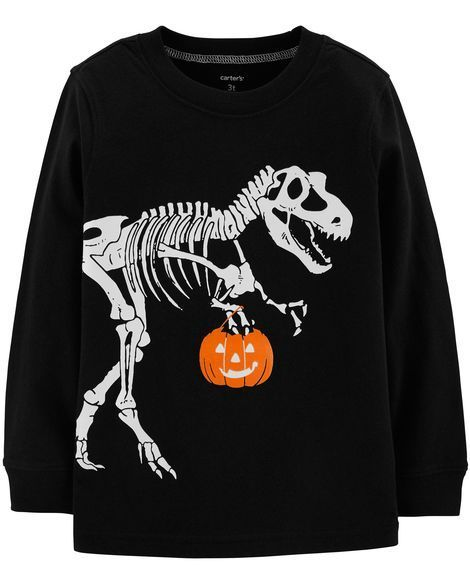 Halloween T Shirt Design Ideas.Glow In The Dark Dinosaur Halloween Tee Tee Shirt Design