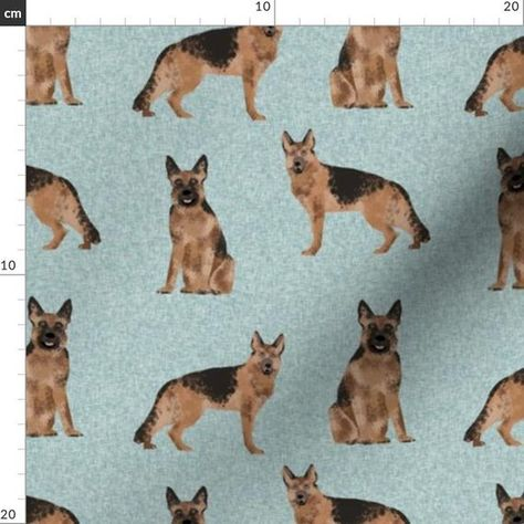 German Shepherd Fabric