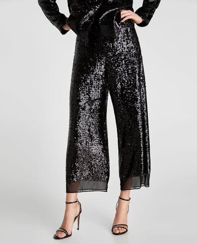 pantalon paillette femme zara
