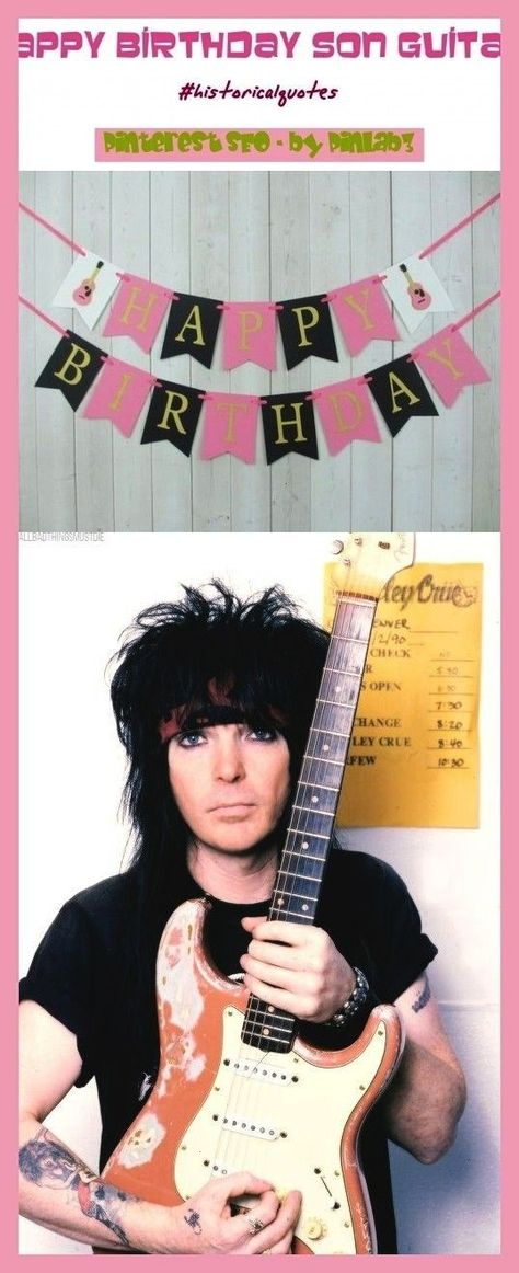Anniversaire Cumpleanos Geburtstag Guitarra Birthday Gitarre
