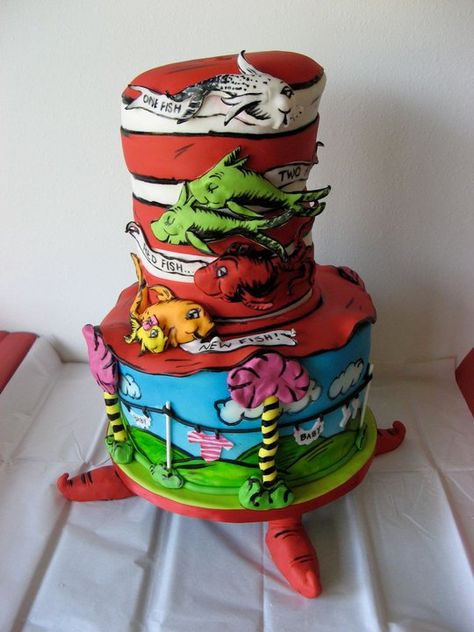 one fish two fish ... dr Seuss cake!