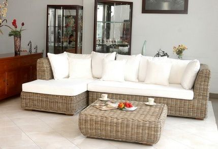 Grey+rattan+furnitre | Living Room Furniture /Natural Wicker Kubu Grey Sofi  Corner Sofa | Outdoor Furniture | Pinterest | Rattan, Rattan Sofa And Wicker  ...
