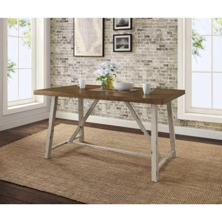 Better Homes And Gardens Collins Dining Table 4 Seater Metal Dining Table Dining Table Rustic Rustic Farmhouse Dining Table