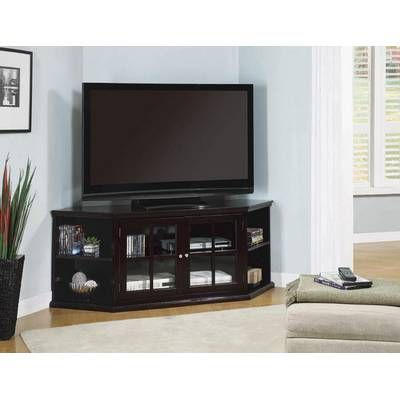 A J Homes Studio Ken Tv Stand Wayfair Corner Tv Tv Stand Wood Living Room Design Modern