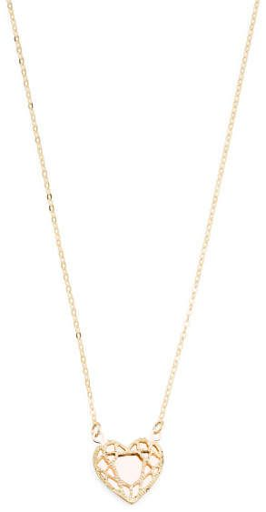 Made In Italy 14k Gold And Rose Gold Heart Necklace Rose Gold Heart Necklace Gold Heart Necklace Rose Gold Heart