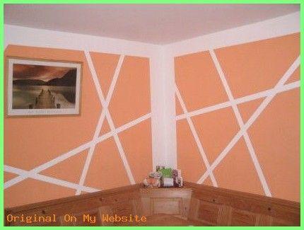 Schlafzimmer Ideen Wandgestaltung Wand Streichen Ideen Muster