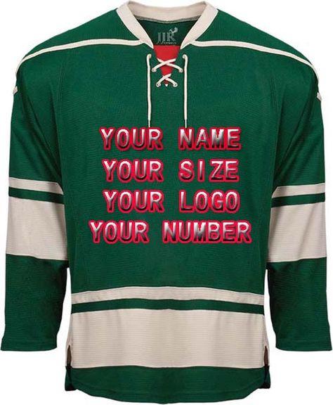 868948b2c 2017 Factory Custom Free Design Logo Wholesale ICE Hockey Jerseys Replica  Home Away Mens Vintage Jersey Green White Red XXS-6XL