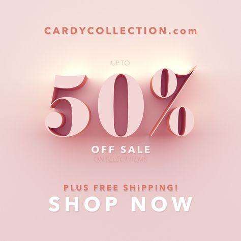 50% off Sale Event. 3d design. Women's fashion #JewellerySale