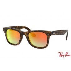 9af2ea7fe9f Ray Bans RB4340 Wayfarer Ease with Tortoise frame and Orange Gradient Flash  lenses