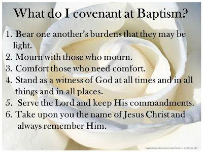 covenants at baptism