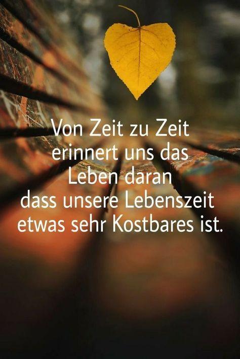 Sprüche und Zitate: #Sprüche #Zitate #Leben #Zeit #Lebenszeit #kostbar