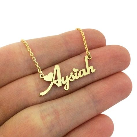 Tiny Gold Name Necklace - Personalized Necklace -Name Necklace-Custom Name Necklaces-Name Jewelry-Pe