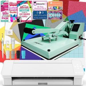 Silhouette White Cameo 4 Heat Press T Shirt Bundle W Mint 15 X 15 Heat Press Siser Vinyl Siser Vinyl Silhouette Cameo Vinyl