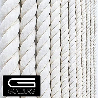 Golberg G Twisted 100 Natural Cotton Rope 5 32 3 16 7 32 1 4 5 16 3 8 1 2 5 8 3 4 1 1 1 4 1 1 2 Perfect For Macrame Crafts Several L Con Imagenes