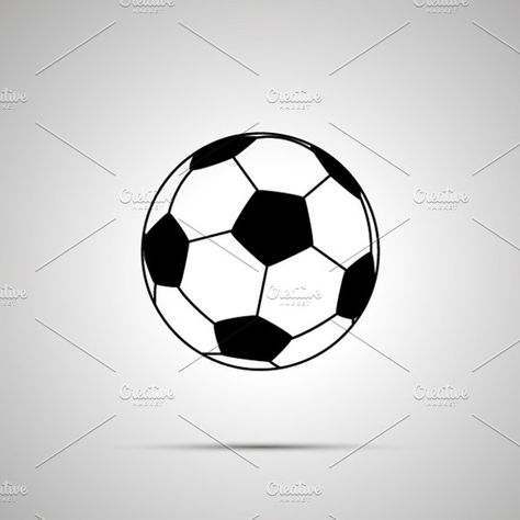 Football Ball Simple Black Icon Football Ball Ball Football Drawing